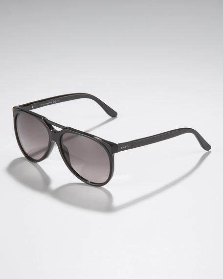 Round Sunglasses, Black