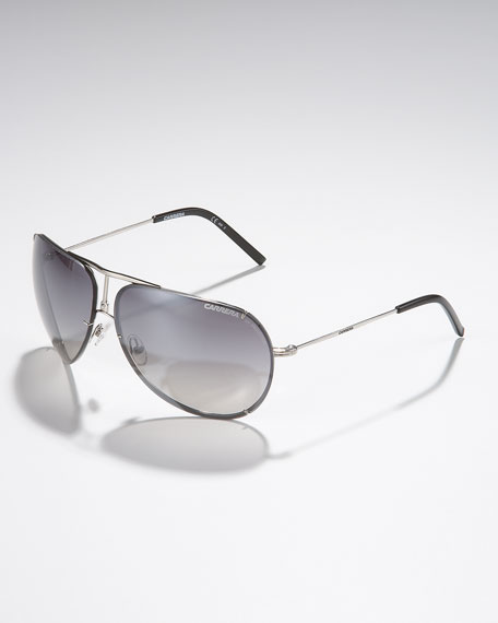 Metal Aviator Sunglasses, Palladium