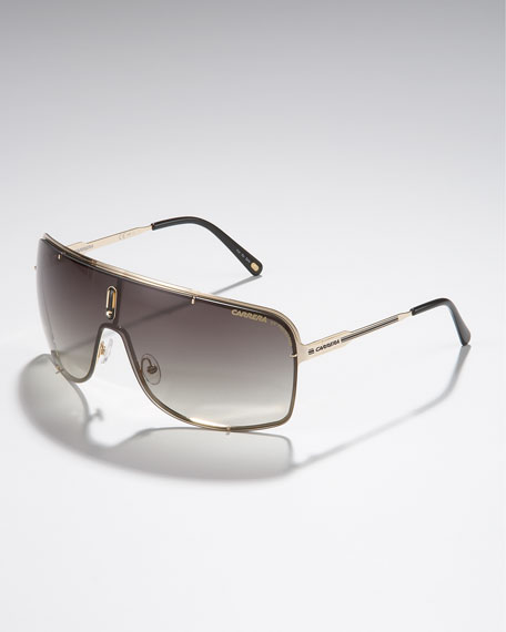 Metal Shield Sunglasses, Golden