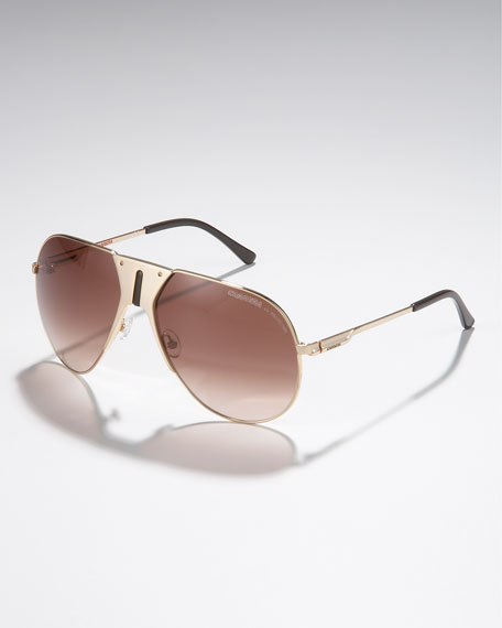 Vintage Aviator Sunglasses, Golden
