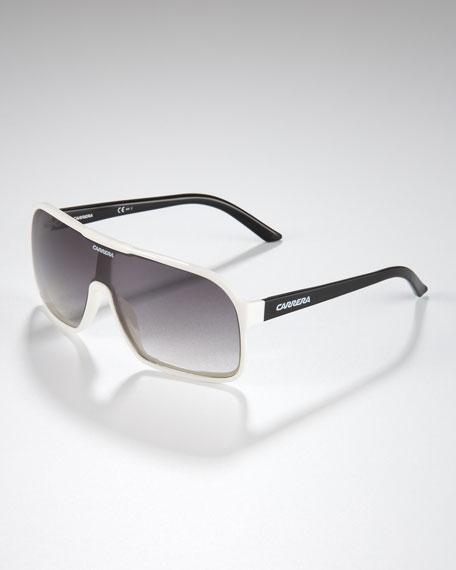 Square Plastic Shield Sunglasses