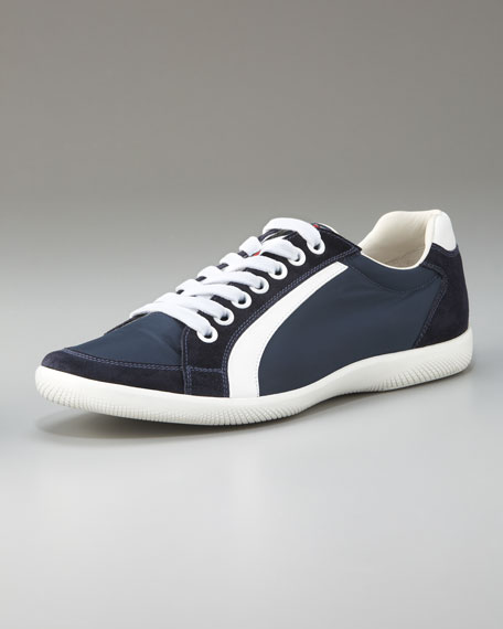 Lace-Up Sport Sneaker with Stripe