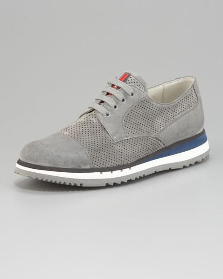 Perforated Cap-Toe Sneaker