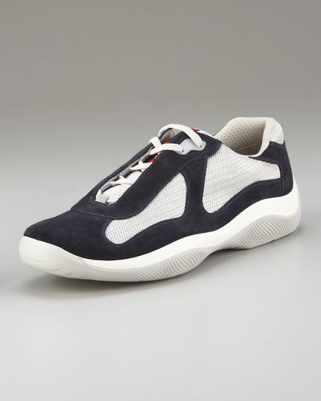 Exclusive Lace-Up Sport Sneaker, Navy