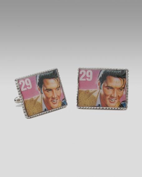 Elvis Presley Stamp Cuff Links
