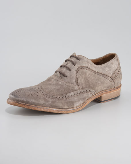 Suede Wing-Tip