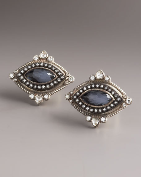 Hematite Marquis Cuff Links