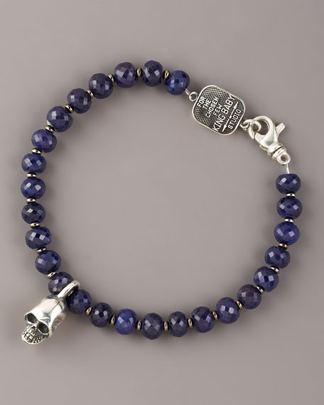 7mm Sapphire Bead Bracelet