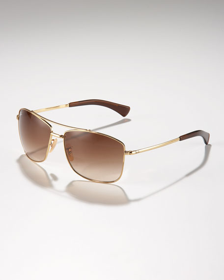 Highstreet Aviator Sunglasses, Golden