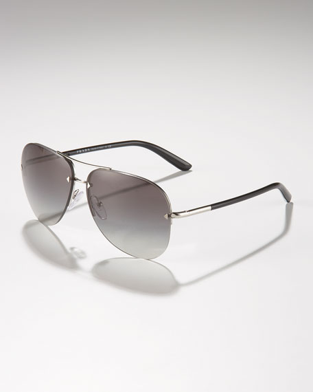 Metal Sport Aviator Sunglasses