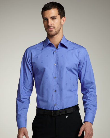 City Fit Medusa Sport Shirt, Navy