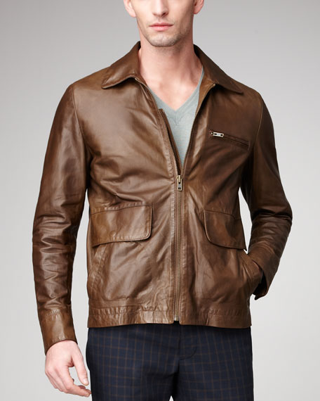 Leather Jacket, Brown
