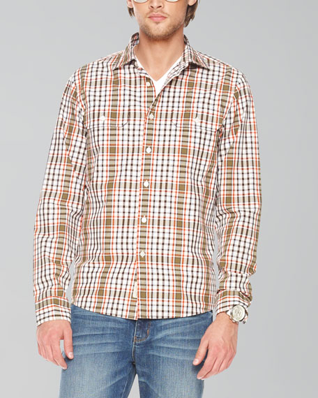 Pocketed Plaid Shirt