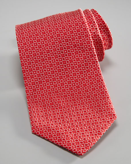 Fancy Geometric Tie, Red
