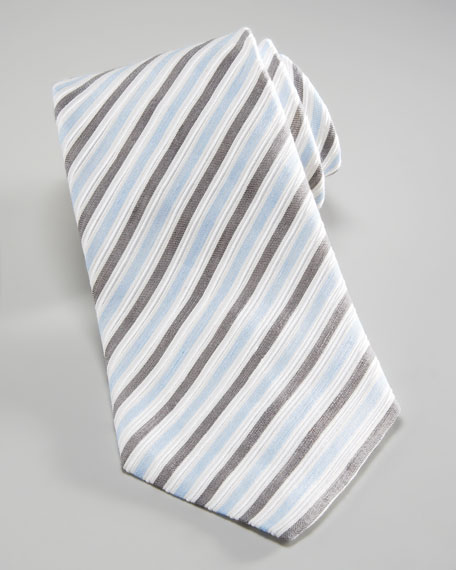 Diagonal Textured Stripe Tie