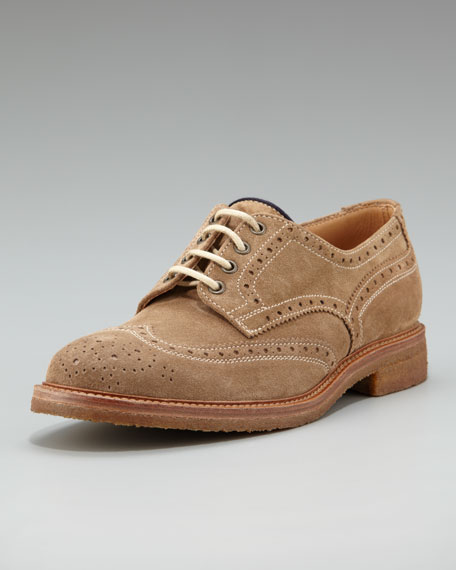 Crepe-Sole Suede Wing-Tip