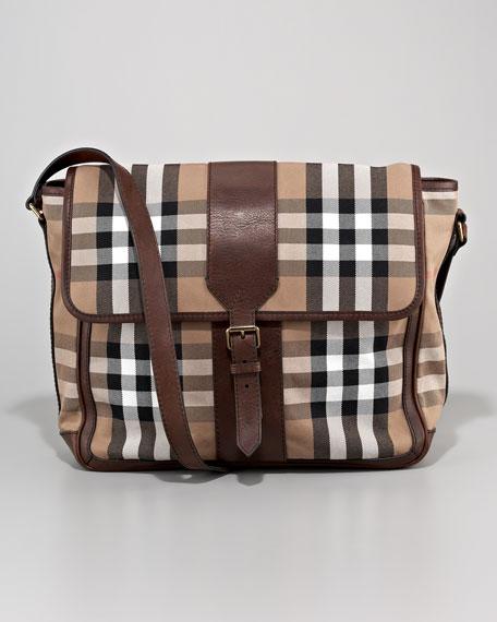Check Messenger Bag, Small