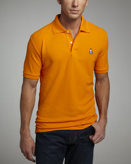 Classic Pima Logo Polo, Orange