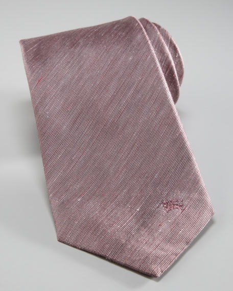 Linen/Silk Solid Tie, Red