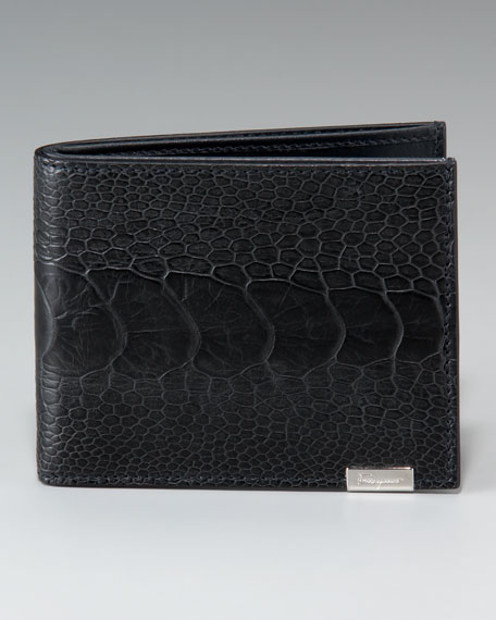 Ostrich-Leather Wallet