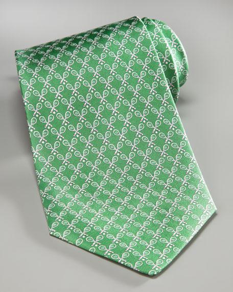 Tennis Rackets Tie, Green