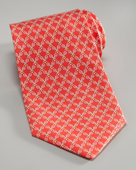 Tennis Rackets Tie, Red