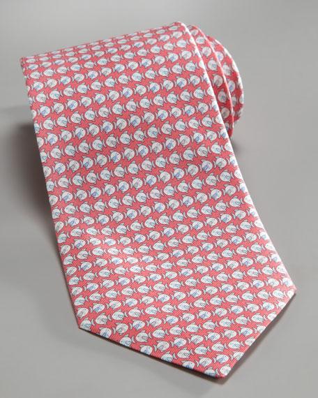 Fish Silk Tie, Pink