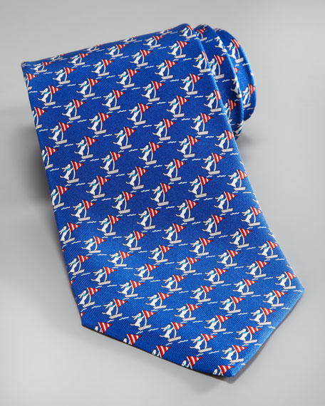 Sailing Dogs Tie, Royal