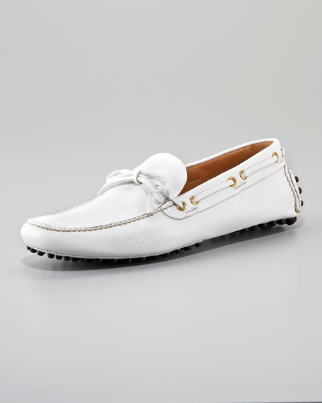 Classic Leather Driver, White