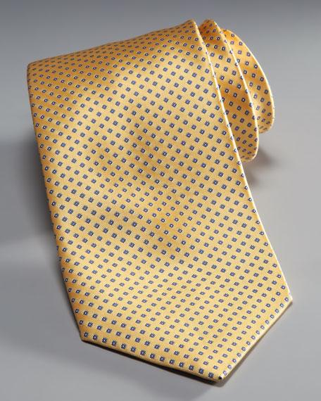 Mini-Squares Silk Tie, Yellow