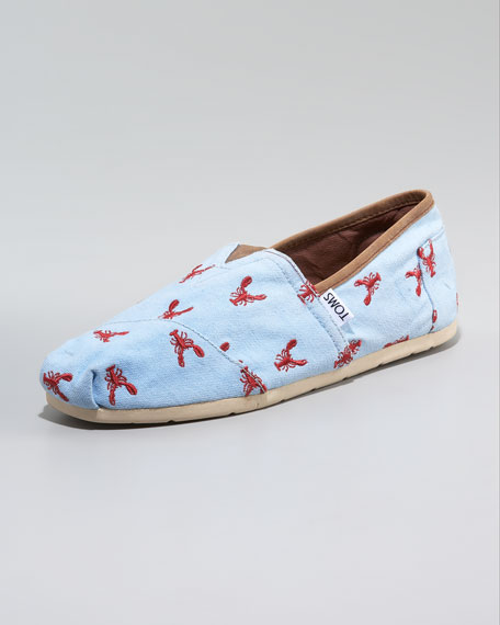 Lobster-Print Slip-On
