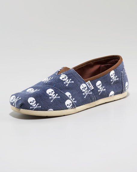 Enderby Skull-Print Slip-On