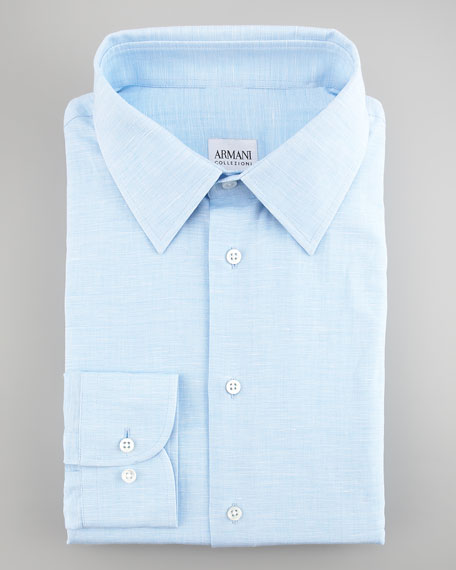 Modern-Fit Textured Dress Shirt
