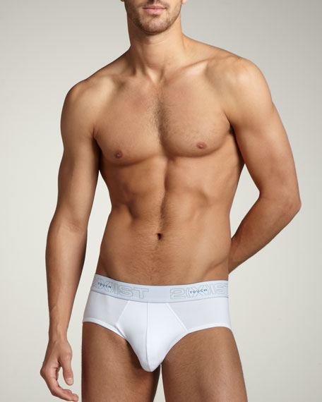 Touch Contour Briefs, White