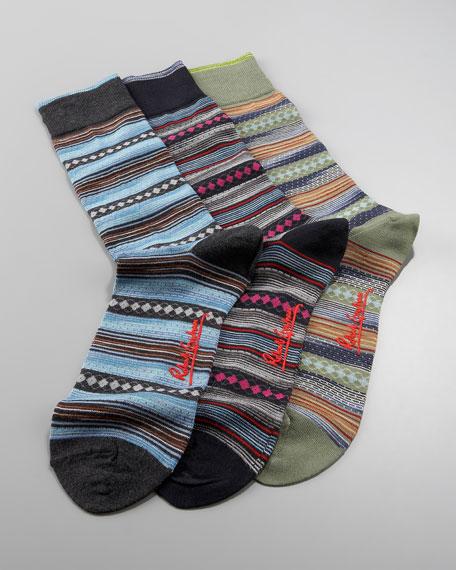 Hubble Striped Socks