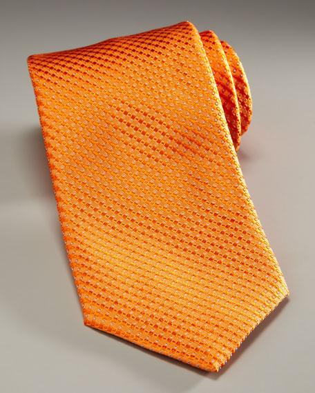 Woven Neat Tie, Orange