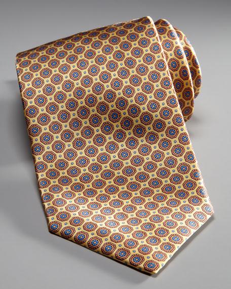 Medallion Silk Tie, Yellow