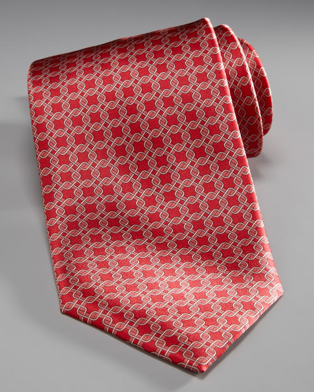 Interlocking Squares Tie
