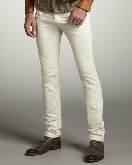 Thanaz Skinny White Jeans