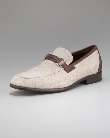 Berto Linen/Leather Loafer