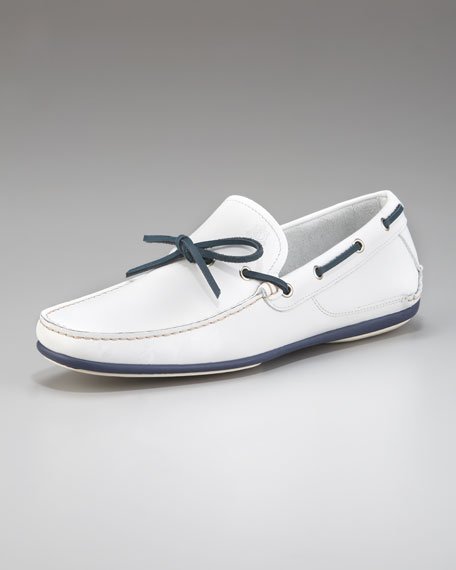 Mango Boat Shoe, Bianco