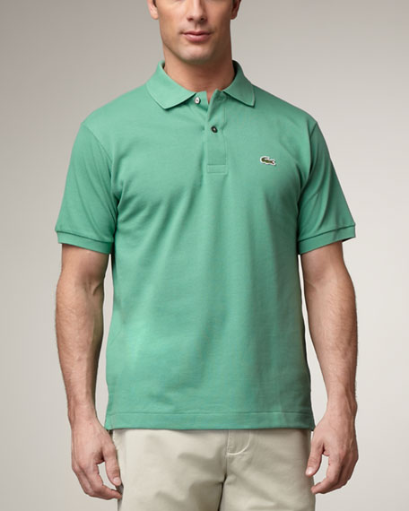 Classic Pique-Knit Polo, Charmed Purple
