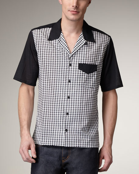 Houndstooth Bowling Shirt