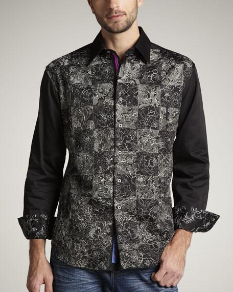 Robert Graham Ellis Embroidered Sport Shirt