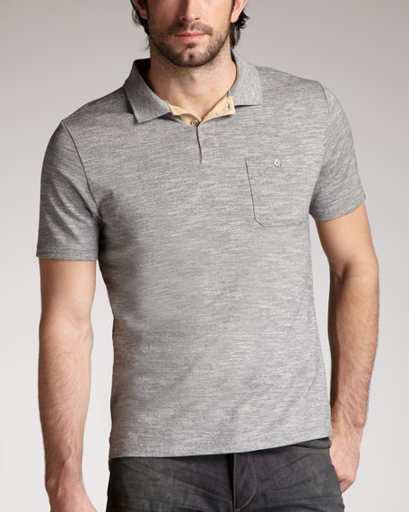 Slim-Fit Polo, Gray