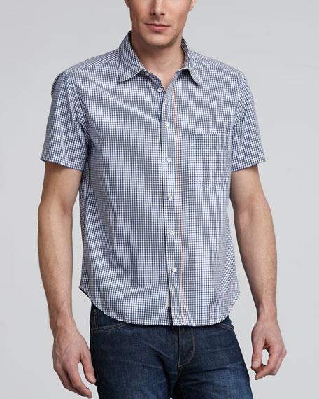 Short-Sleeve Gingham Yokohama Shirt