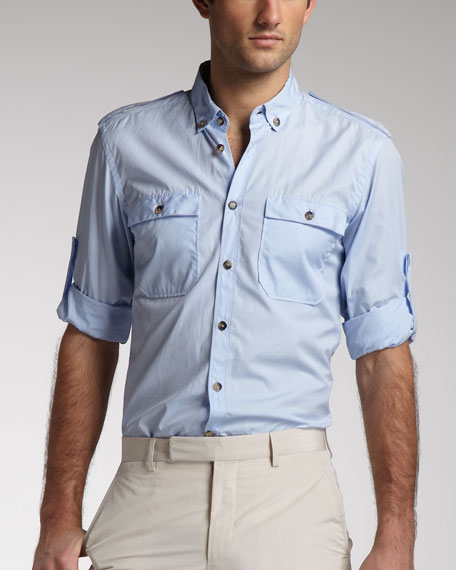 Button-Down Military Shirt