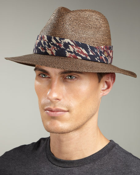 Kurt Ikat-Band Fedora