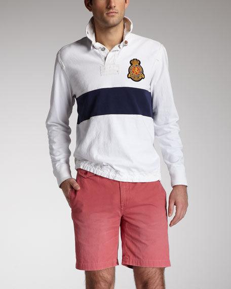 Slim Officer's Chino Shorts, Brick Red