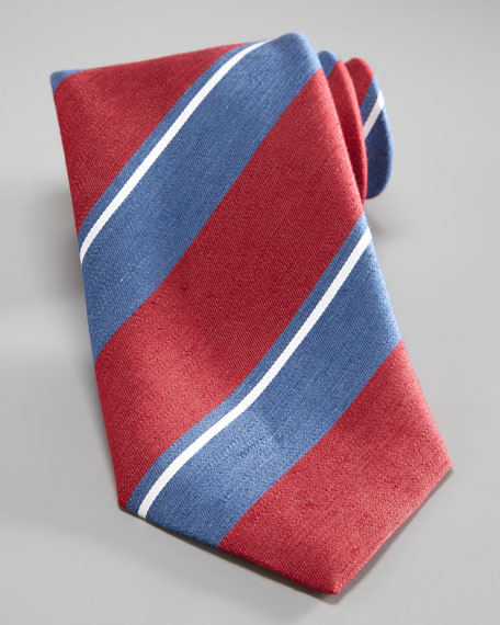 Bold-Stripe Silk Tie